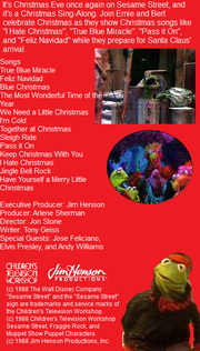 True Blue Miracle - Favorite Christmas Songs Back Cover