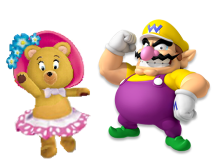 File:Tessie and Wario.PNG