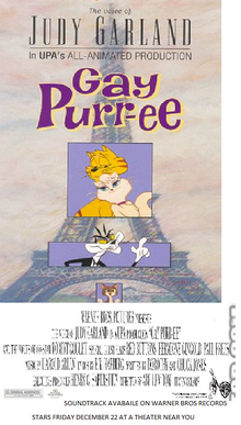Gay Purr-ee 1995 Re-Release Poster