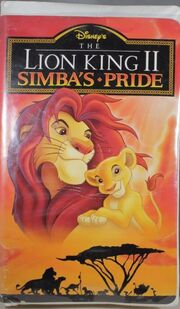 The Lion King II 1998 VHS