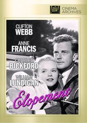1951 - Elopement DVD Cover (2012 Fox Cinema Archives)