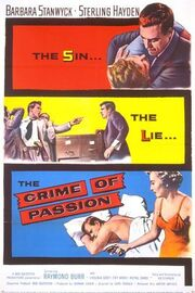 1957 - Crime of Passion Movie Poster