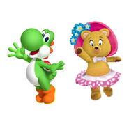 Yoshi and Tessie bear
