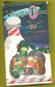 VeggieTales The Toy That Saved Christmas VHS Cover