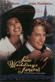 1994 - Four Weddings and a Funeral Movie Poster
