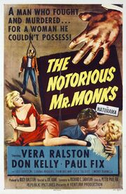 1958 - The Notorious Mr. Monks Movie Poster