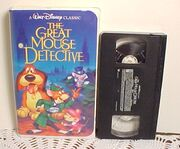 The Great Mouse Detective on VHS