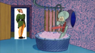 Buddy The Elf Stops By And Squidward Screams