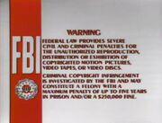 Disney FBI Warning 1984 1