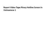 Report Video Tape Piracy Hotline Screen in Vietnamese 1