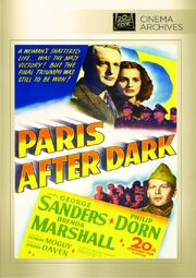 1943 - Paris After Dark DVD Cover (2013 Fox Cinema Archives)