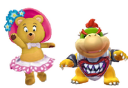 Tessie and Bowser jr