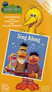 Sesame Street Sing-Along 1987 VHS Cover