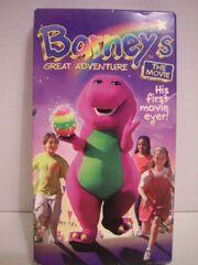 Barneys Great Adventure 1998 VHS Tape