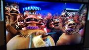 Chickens freaking out from Chicken Run preview