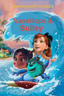 Vanellope and sulley