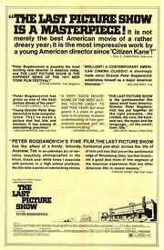 1971 - The Last Picture Show Movie Poster