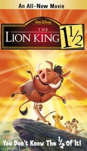 The lion king 1 1-2 vhs