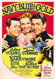 1937 - Navy Blue and Gold Movie Poster