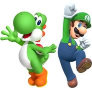 Yoshi and Luigi