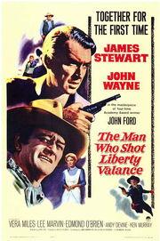 1962 - The Man Who Shot Liberty Valance Movie Poster