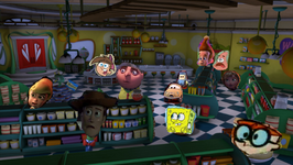 Jimmy sheen and friends are in the store