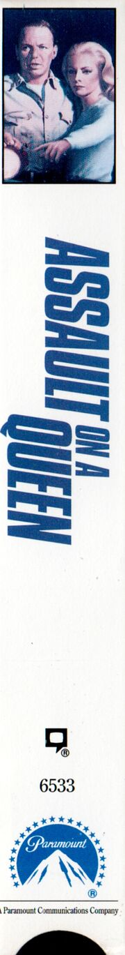 Assault on a Queen 1992 VHS (Spine Cover)