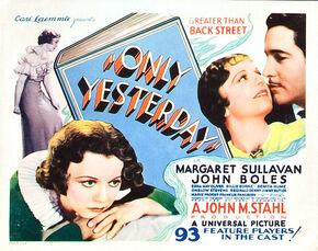 1933 - Only Yesterday
