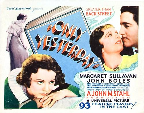 File:1933 - Only Yesterday.jpg