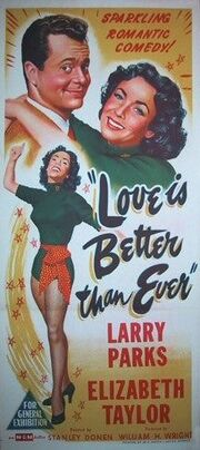 1952 - Love is Better Than Ever Movie Poster