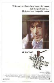 1979 - And Justice for All Movie Poster