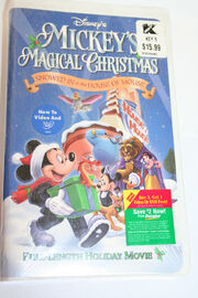 Mickeys Magical Christmas Snowed In At The House Of Mouse VHS