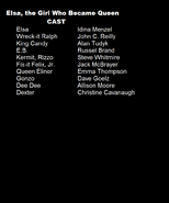Elsa the Girl Who Became Queen Cast List