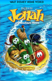 Jonah - A VeggieTales Movie 1998 VHS Cover (Disney Version)