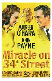 1947 - Miracle on 34th Street Movie Poster