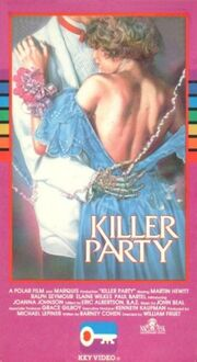 Killer party key vhs front