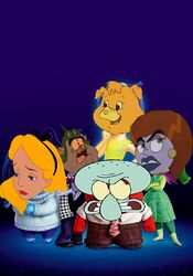 Treat Heart, Alice, Freakella, Squidward and Beastly as Inside Out Emotions