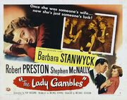 1949 - The Lady Gambles Movie Poster