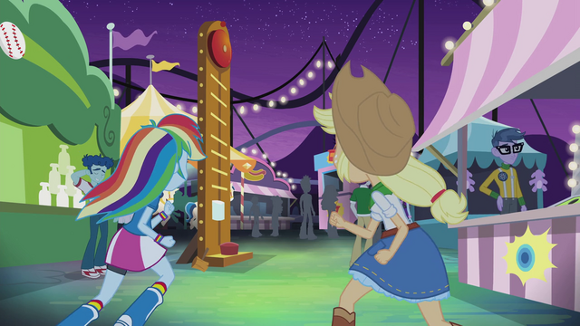 File:Applejack and Rainbow Dash running to carnival games EG2.png