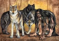 Fantasy goldenwolf