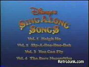 Disney sing along songs promo 1990