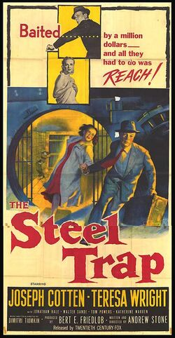 1952 - The Steel Trap Movie Poster