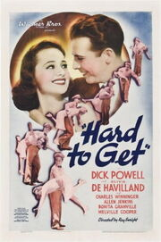 1938 - Hard to Get Movie Poster