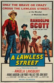 1955 - A Lawless Street Movie Poster
