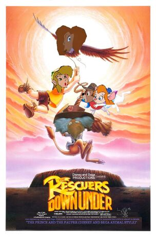 The Rescuers Down Under (Disney and Sega Animal Style) Poster
