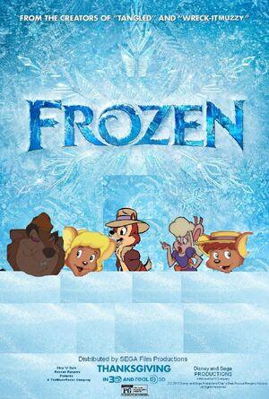 Frozen (Disney and Sega Animal Style) Poster