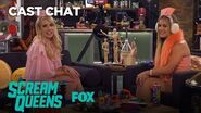Emma Roberts & Billie Lourd Get Goofy In The Fox Lounge Season 2 SCREAM QUEENS