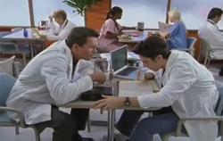 2x5 JD and Janitor wearing labcoats