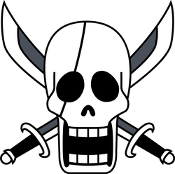 Gold pirates skull