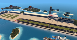 Seychelles Municipal Airport, looking SE (11-14)